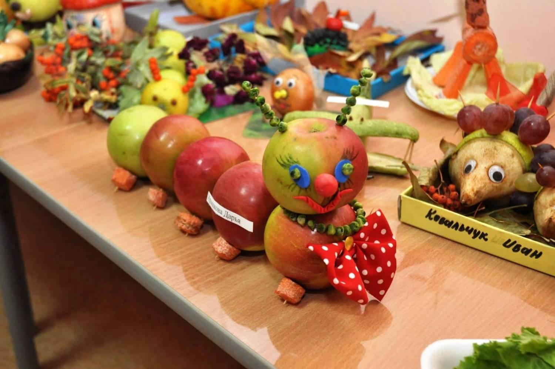 Поделка Мама, папа, я - дружная семья гусениц из яблок - Умейка 72